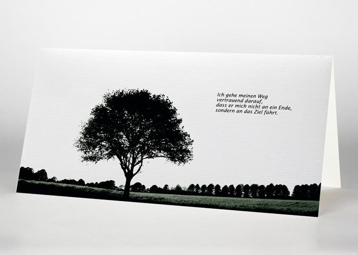 Trauerkarte Motiv F-09
