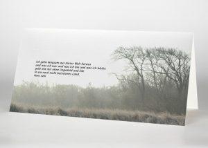 Landschaft im Nebel - Trauerkarte Motiv F-15