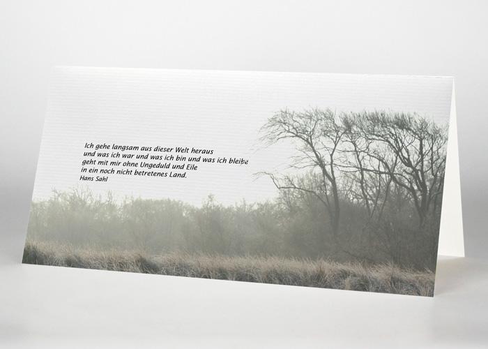 trauerkarten mit fotomotiven den tod anzeigen
