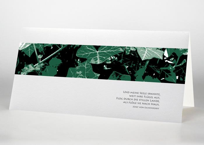 Efeu an einer Wand - Trauerkarte Motiv F-17
