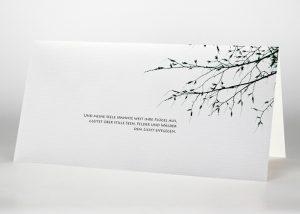 Ein blattloser Ast - Trauerkarte Motiv F-19