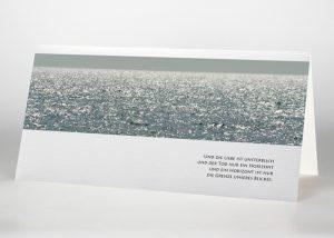 Glitzerndes Meer - Trauerkarte Motiv F-25