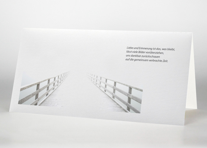Steg ins Meer - Trauerkarte Motiv F-26