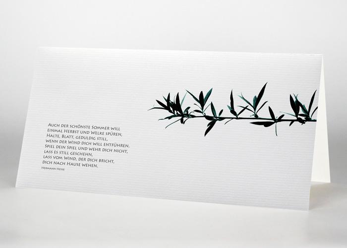 Ast einer Trauerweide - Trauerkarte Motiv F-30