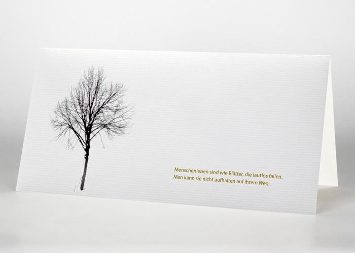 Baum im Winter - Trauerkarte Motiv F-34