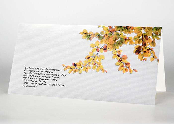 Herbstblätter - Trauerkarte Motiv F-37