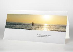 Segelschiff auf dem Meer - Trauerkarte Motiv F-44