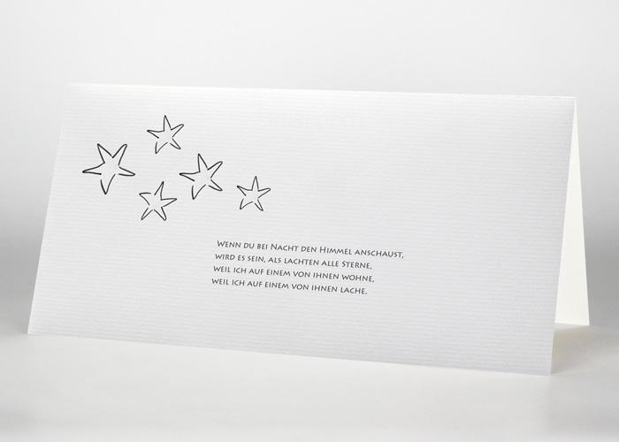 5 Sterne - Trauerkarte Motiv S-01