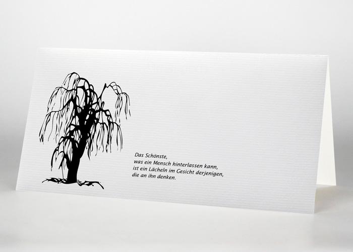 Symbolisierte Trauerweide - Trauerkarte Motiv S-13