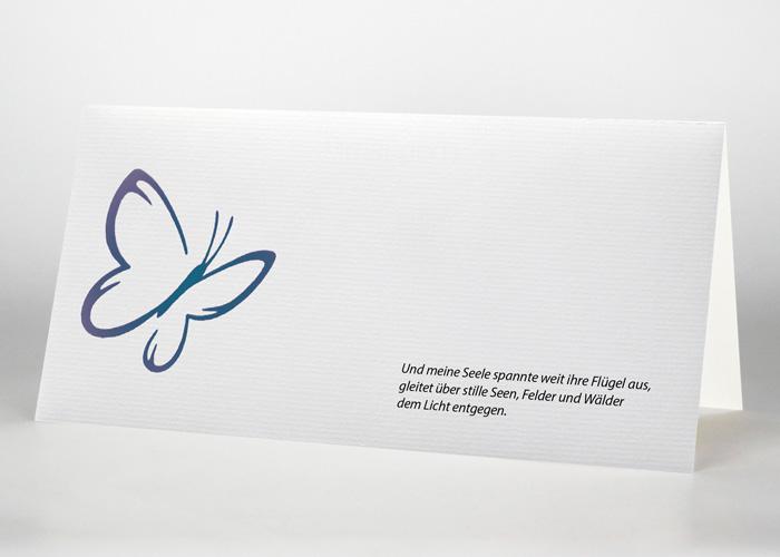 Schmetterling - Trauerkarte Motiv S-18
