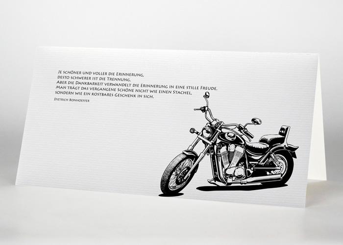 Motorrad - Trauerkarte Motiv S-19