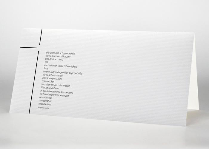 Dünnes Kreuz - Trauerkarte Motiv S-23