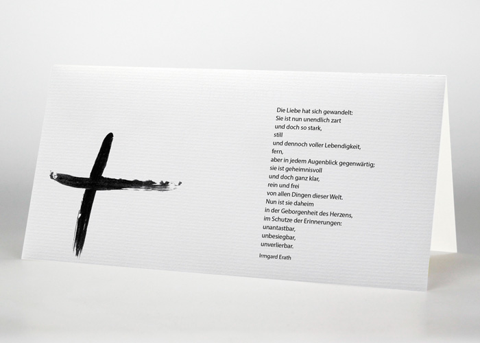 Trauerkarte Motiv S-27