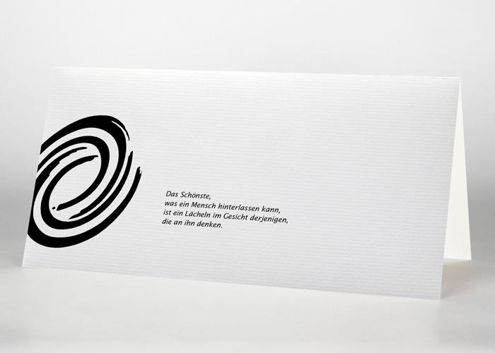 Spirale Tuschezeichnung - Trauerkarte Motiv S-38