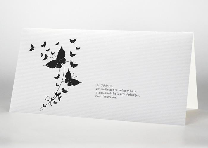 Aufsteigende Schmetterlinge - Trauerkarte Motiv S-42